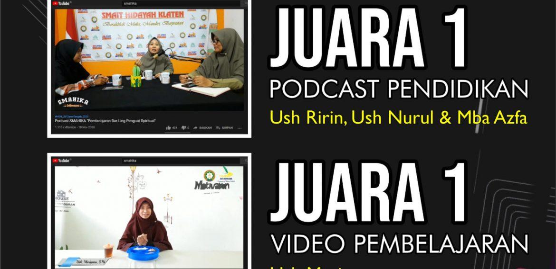 SMAHIKA Sapu Bersih Juara 1 Lomba Guru Tingkat Jawa Tengah