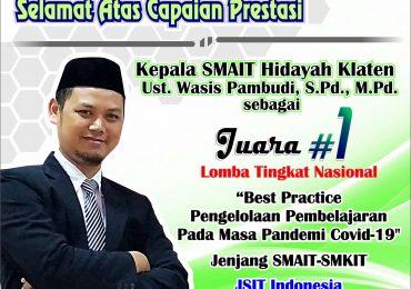 Inovasi PJJ Masa Pandemi di SMAIT Hidayah Klaten Juara 1 Tingkat Nasional