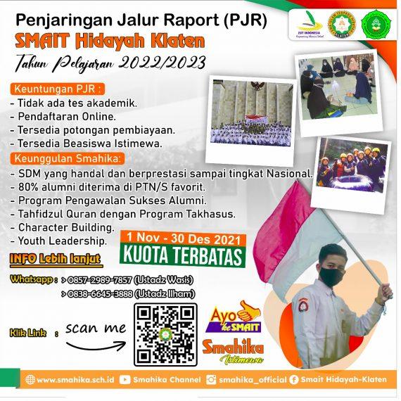 Penjaring Jalur Raport (PJR) TP 2022/2023